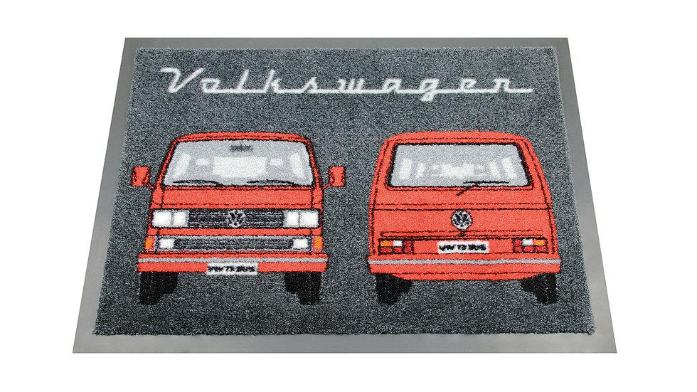 VW T3 Combi Paillasson, 70x50cm - Front & Arrière/rouge VW T3 Combi Paillass