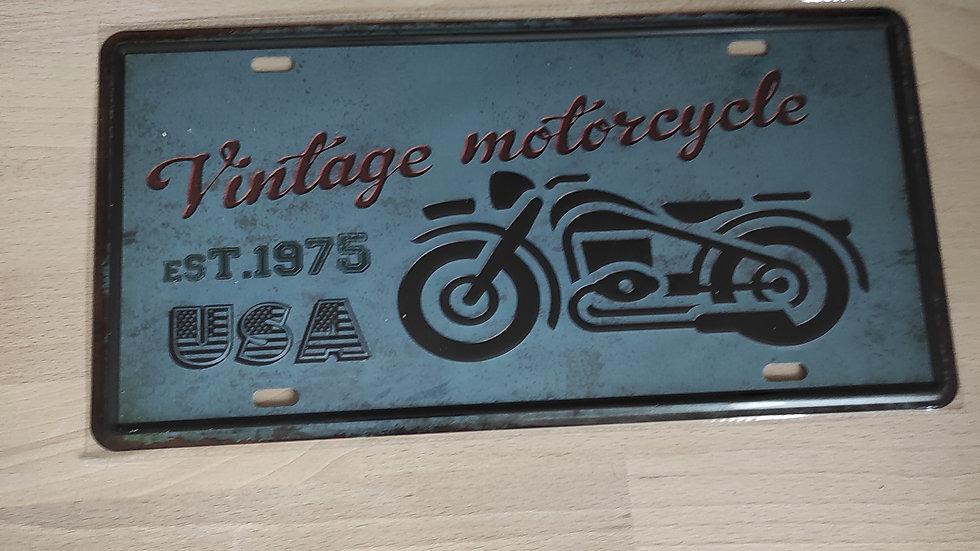 Plaque métal vintage moto