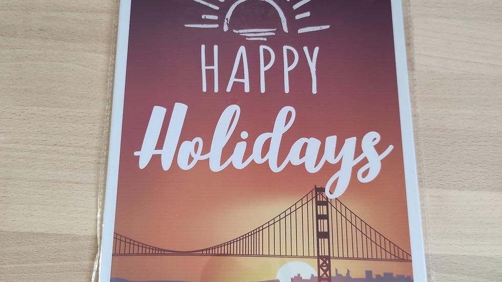 Plaque métal happy holidays
