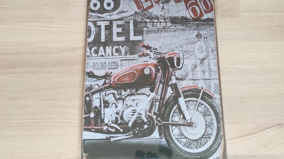 Plaque métal vintage motel