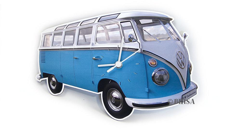 VW T1 Combi Horloge murale 28x18x2,5cm - bleu