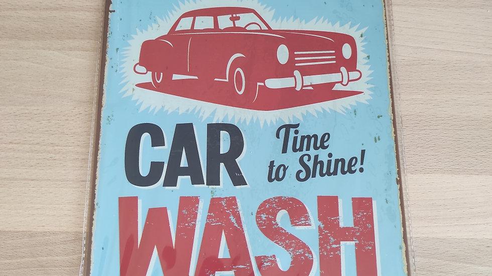 Plaque métal car wash