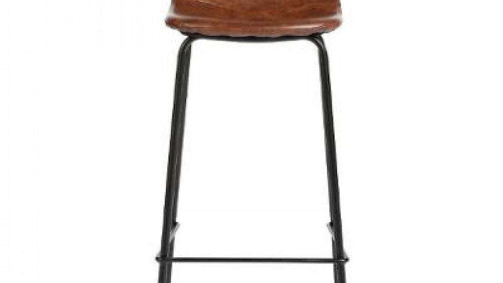 chaise bar pu vladi marrn, marron