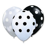 Polka-Dot-Latex-Balloons-12-Black-White-