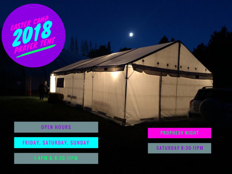 Easter Camp Prayer Tent 2018