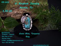 Evans Mine, Turquoise Ring
