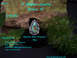 Royston Mine ( NV.) Turquoise Ring