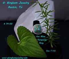 Fox Mine, Turquoise ring FT1041