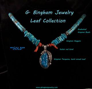 Kingman Leaf necklace *** SOLD***
