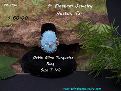 Orbit Mine, Turquoise Ring RR 2106