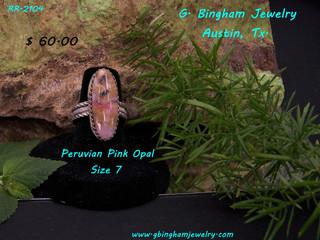 Peruvian Pink Opal Ring RR-2104