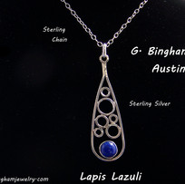 ***SOLD***Contemporary Silver with Lapis (Lazurite) NP-1008
