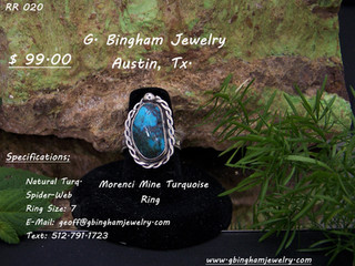 Morenci Mine, Turquoise Ring Ring