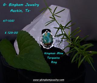 Kingman Mine, Turquoise ring KT-1051