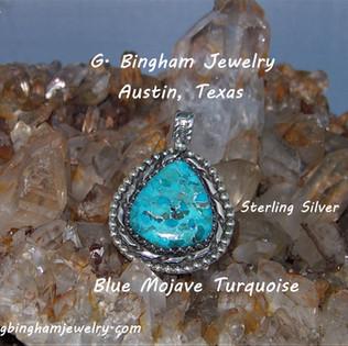 Blue Mojave Turquoise large pendant MB-105
