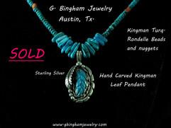 Kingman Leaf Necklace ***SOLD***