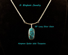 ***SOLD*** Kingman Drop Pendant.