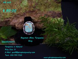 Royston Mine Turquoise Ring