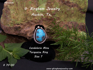 Candalaria Mine Turquoise Ring RR-1009