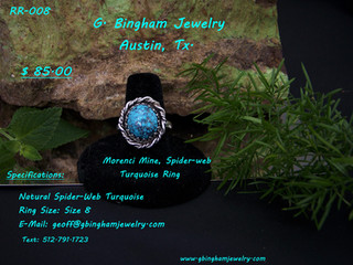 Morenci Spiderweb Turquoise Ring