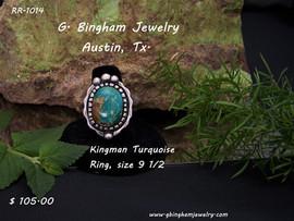 kingman Turquoise Ring RR-1014