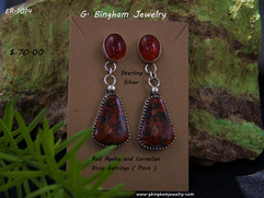 ER-1014 Red Agate and Carnelian