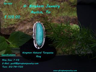 Natural Kingman Turquoise Ring
