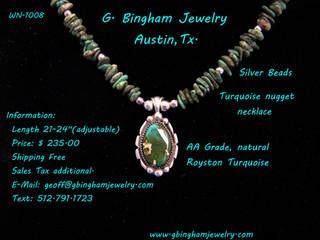 Royston nugget necklace MW-1008