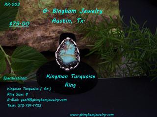 Kingman Mine, Turquoise Ring