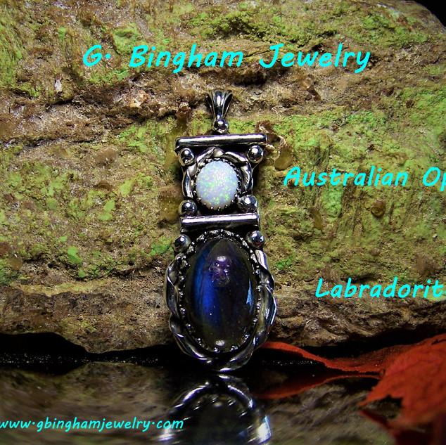 Labradorite and Opal Pendant NP-1025