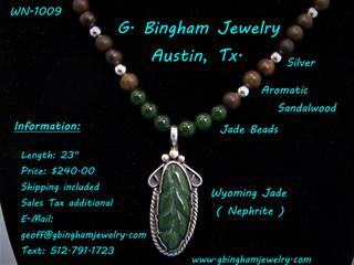 Jade Leaf Necklace WN-1009