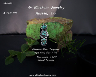 Cheyenne Mione Turquoise Ring VR-1072