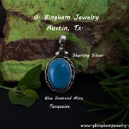 Blue Diamond Turquoise Pendant VR 1079