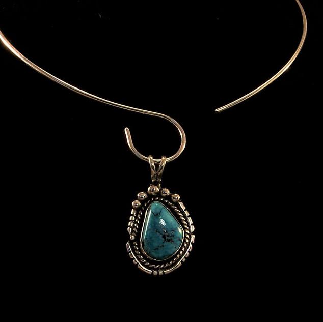 Morenci Water Web Turquoise Pendant