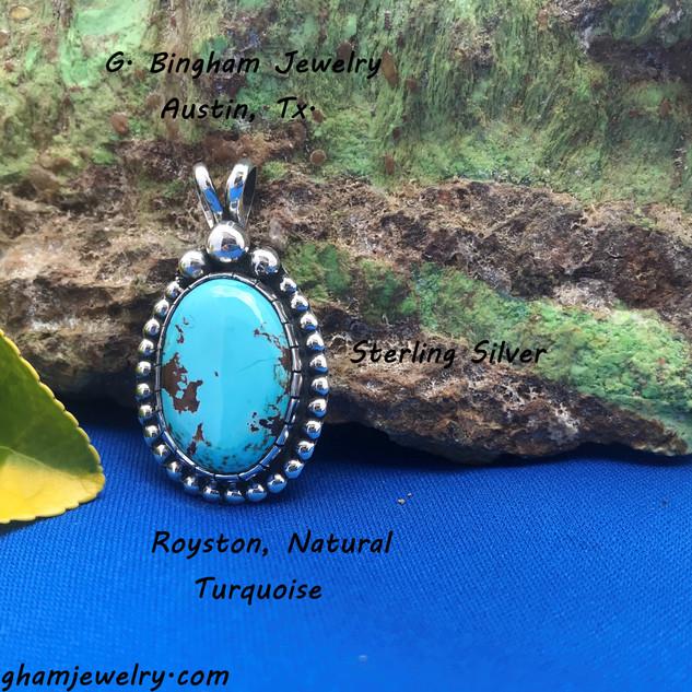 Royston Blue Pendant.NP-1015