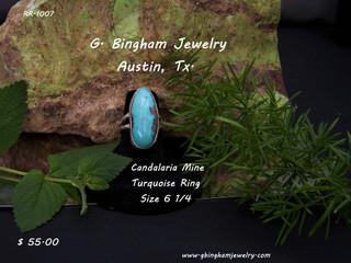 Candalaria  Mine, Turquoise Ring RR-1007