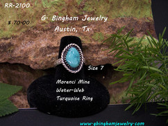 Morenci Mine Waterweb Turquoise Ring RR-2100