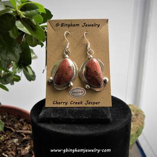 ***SOLD***Cherry Creek Jasper earrings CC011