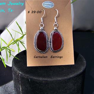 Carnelain earrings.ER-1091