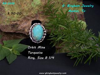 ** SOLD**Orbit Mine Ring RR-2105