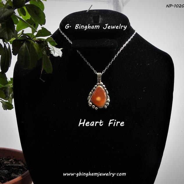 Heart Fire Jasper Pendant NP-1020