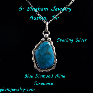Blue Diamond Turquoise Pendant NP-1006