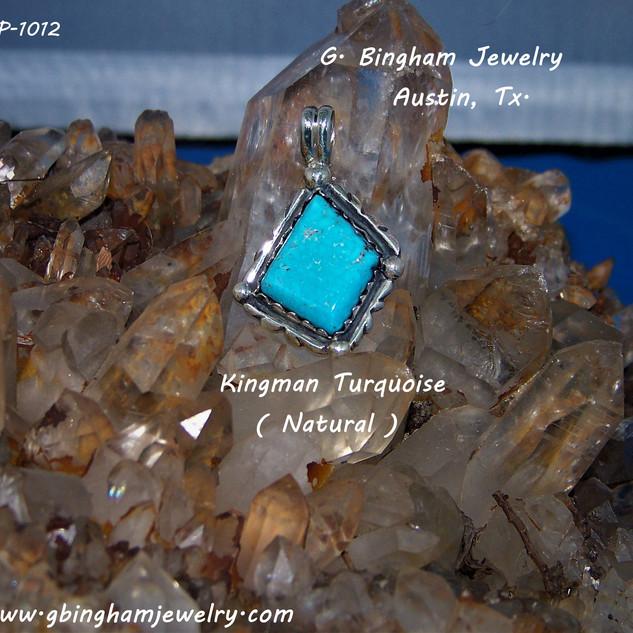 Natural Kingman Turquoise Pendant NP-1012