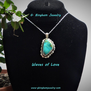 ***SOLD***Waves of Love Turquoise Pendant SOLD.JPG