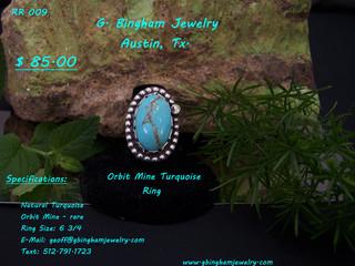 Orbit Mine, Turquoise Ring