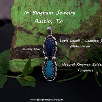 Lapis and Turquoise Pendant  VR-1073