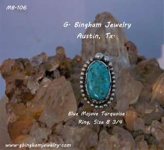 Mojave BLUE, Turquoise Ring MB-106