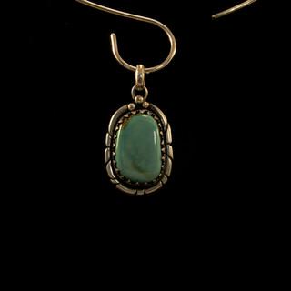 Orbit Mine turquoise Pendant