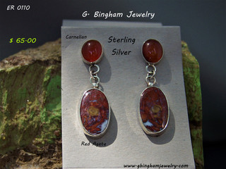ER 1010 Red Agate and Carnelian