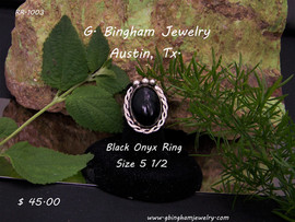 Black Onyx Ring RR-1003